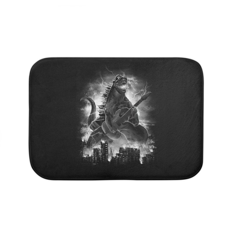 Rockzilla Home Bath Mat by dandingeroz's Artist Shop