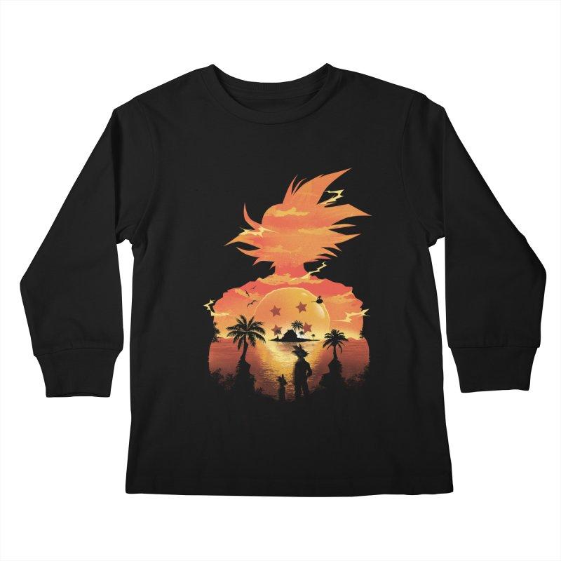 Beautiful Sunset Kids Longsleeve T-Shirt by dandingeroz's Artist Shop