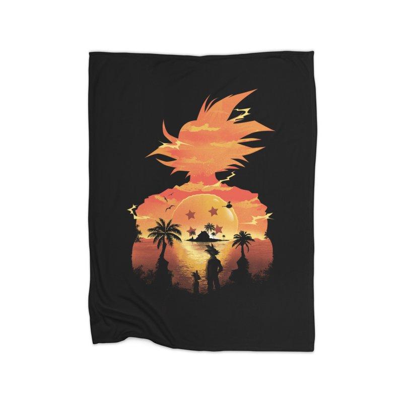 Beautiful Sunset Home Fleece Blanket by dandingeroz's Artist Shop