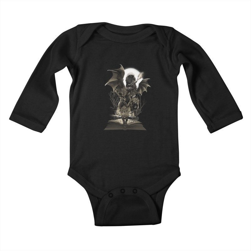 Book of Kingdom Kids Baby Longsleeve Bodysuit by dandingeroz's Artist Shop