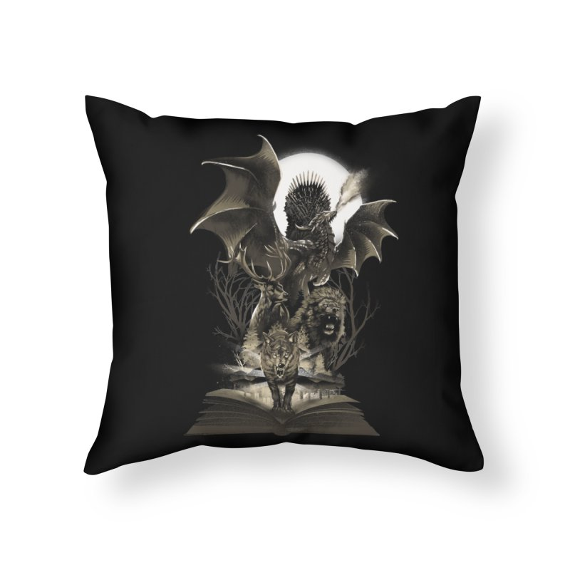 Book of Kingdom Home Throw Pillow by dandingeroz's Artist Shop