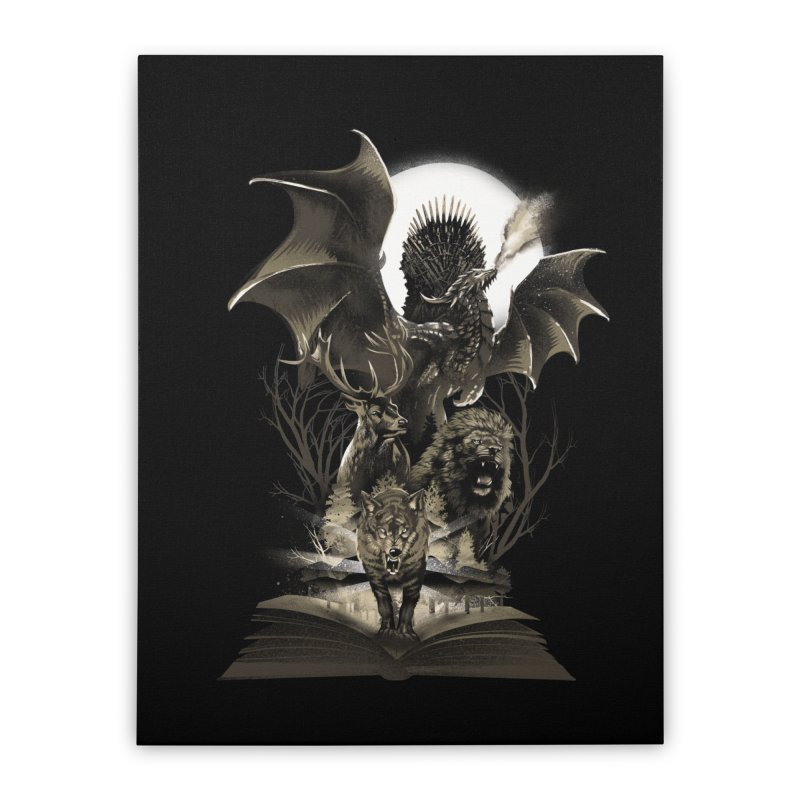 Book of Kingdom Home Stretched Canvas by dandingeroz's Artist Shop