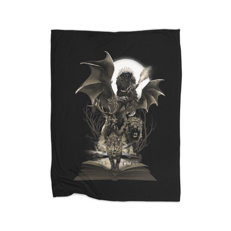 Book of Kingdom Home Fleece Blanket by dandingeroz's Artist Shop