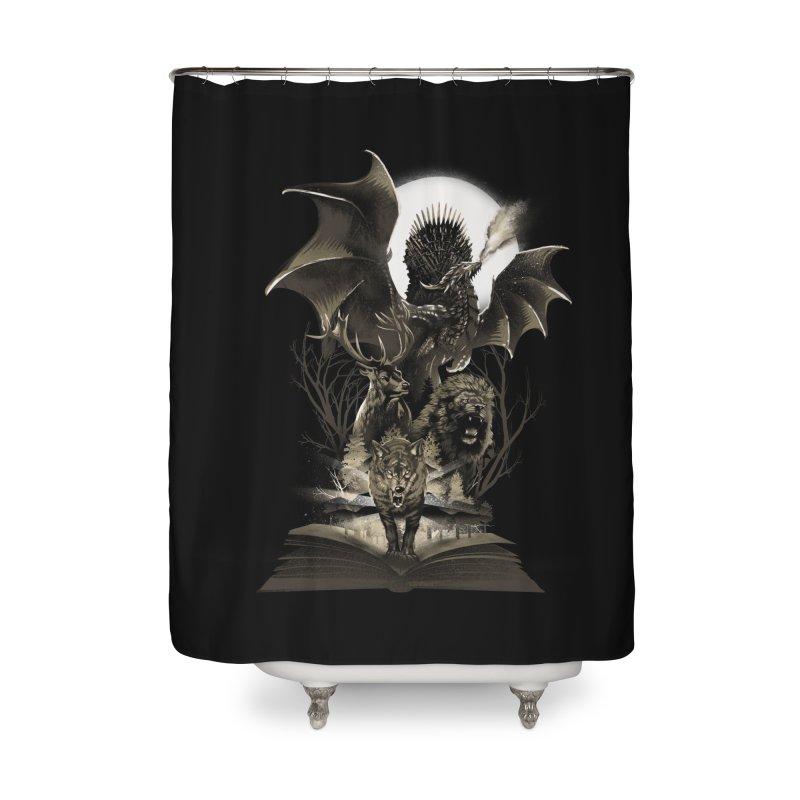 Book of Kingdom Home Shower Curtain by dandingeroz's Artist Shop