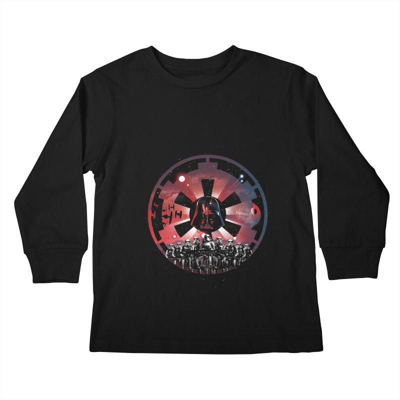 The Empire Rises Kids Longsleeve T-Shirt by dandingeroz's Artist Shop