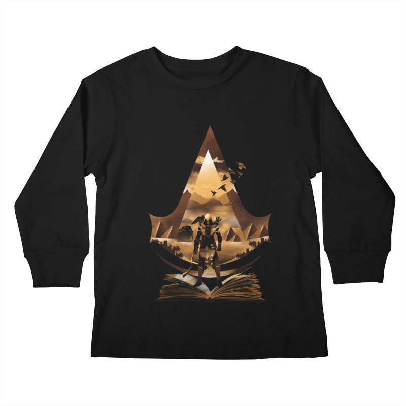 The Origin Kids Longsleeve T-Shirt by dandingeroz's Artist Shop