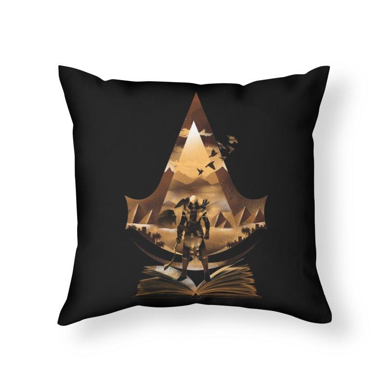The Origin Home Throw Pillow by dandingeroz's Artist Shop