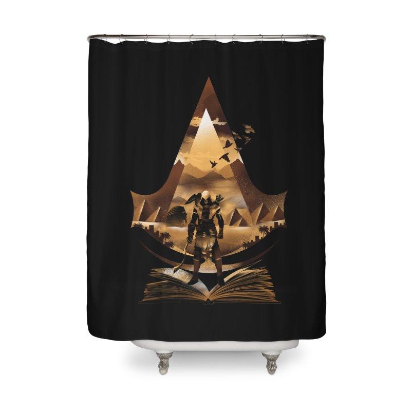 The Origin Home Shower Curtain by dandingeroz's Artist Shop