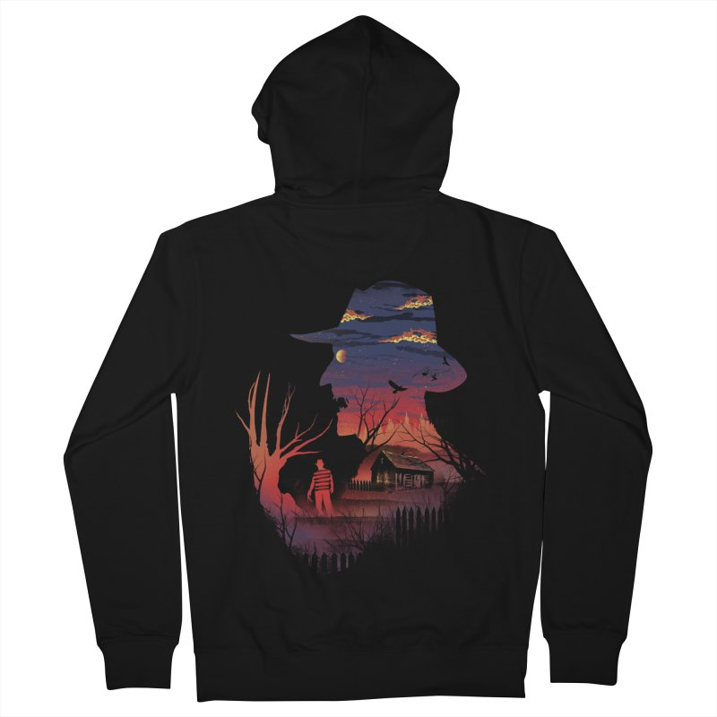 Nightmare on the Street Men's Zip-Up Hoody by dandingeroz's Artist Shop