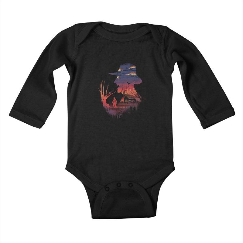 Nightmare on the Street Kids Baby Longsleeve Bodysuit by dandingeroz's Artist Shop