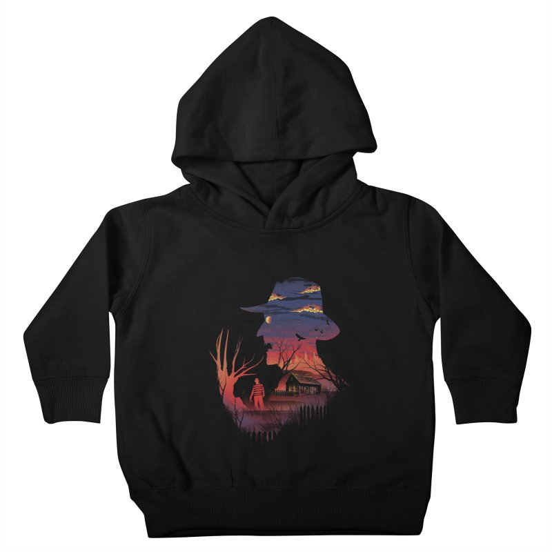 Nightmare on the Street Kids Toddler Pullover Hoody by dandingeroz's Artist Shop