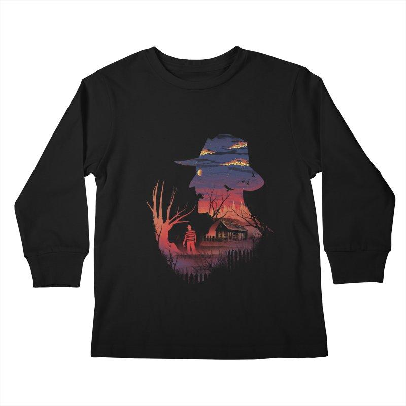 Nightmare on the Street Kids Longsleeve T-Shirt by dandingeroz's Artist Shop