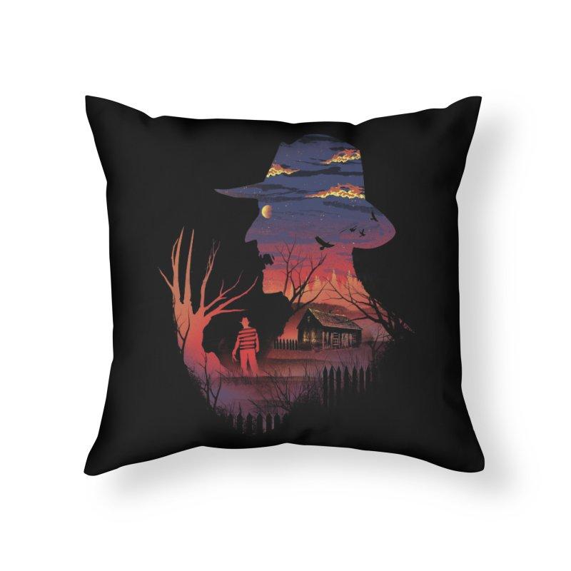 Nightmare on the Street Home Throw Pillow by dandingeroz's Artist Shop