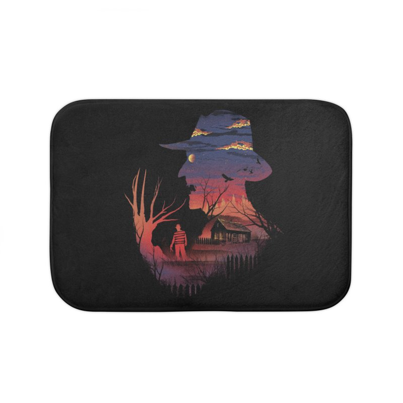 Nightmare on the Street Home Bath Mat by dandingeroz's Artist Shop