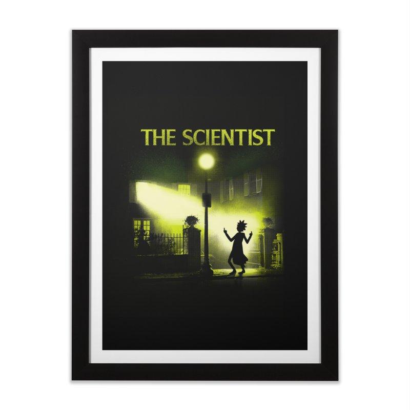The Scientist Home Framed Fine Art Print by dandingeroz's Artist Shop