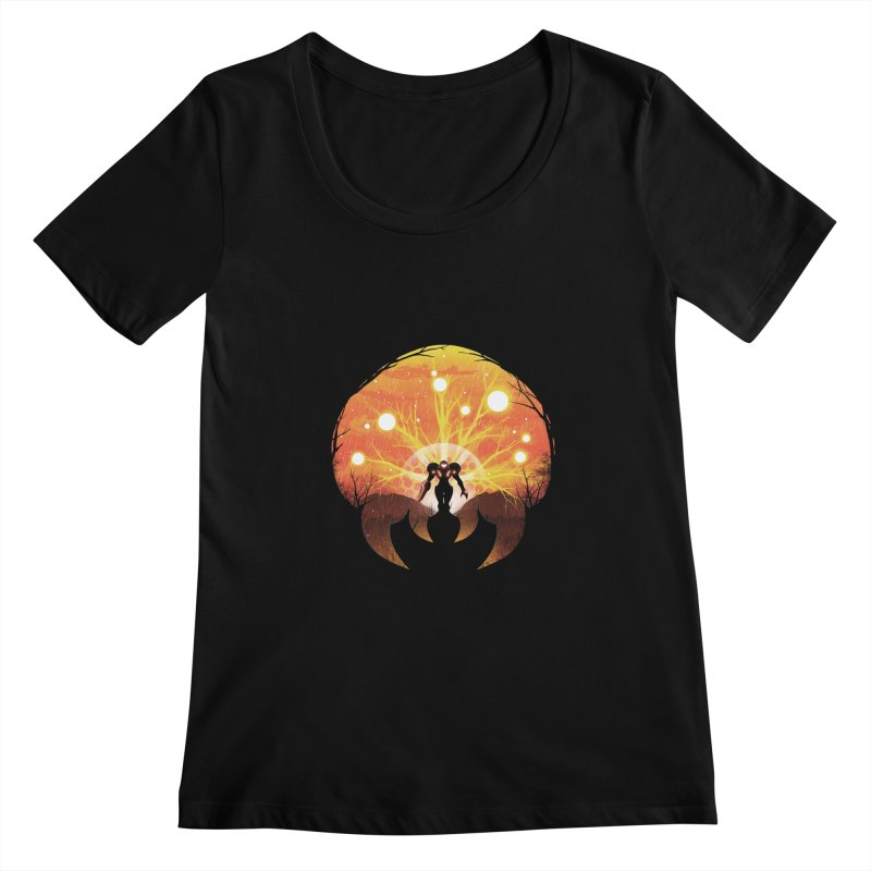 Super Metroid Women's Scoopneck by dandingeroz's Artist Shop