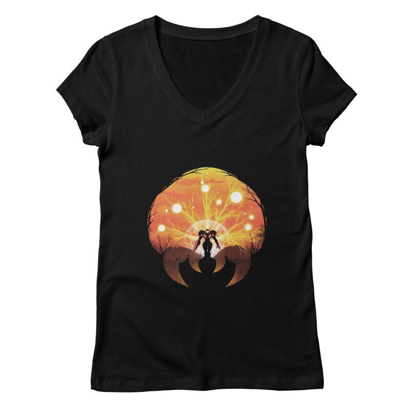 Super Metroid Women's V-Neck by dandingeroz's Artist Shop