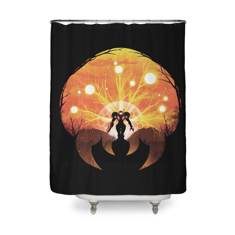 Super Metroid Home Shower Curtain by dandingeroz's Artist Shop