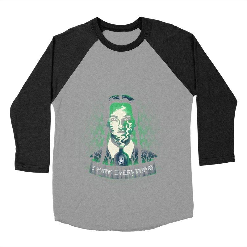 I hate everything Women's Baseball Triblend T-Shirt by dandingeroz's Artist Shop