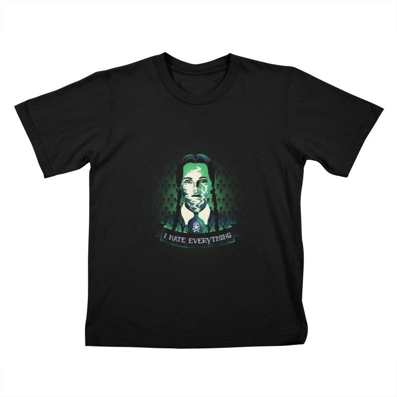 I hate everything Kids T-Shirt by dandingeroz's Artist Shop