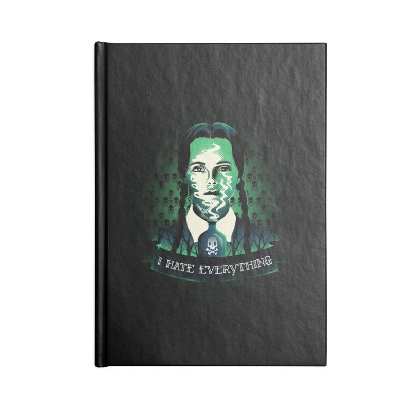 I hate everything Accessories Notebook by dandingeroz's Artist Shop