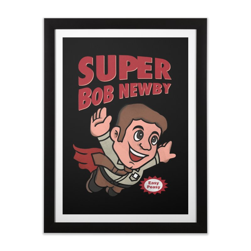 Super Bob Home Framed Fine Art Print by dandingeroz's Artist Shop