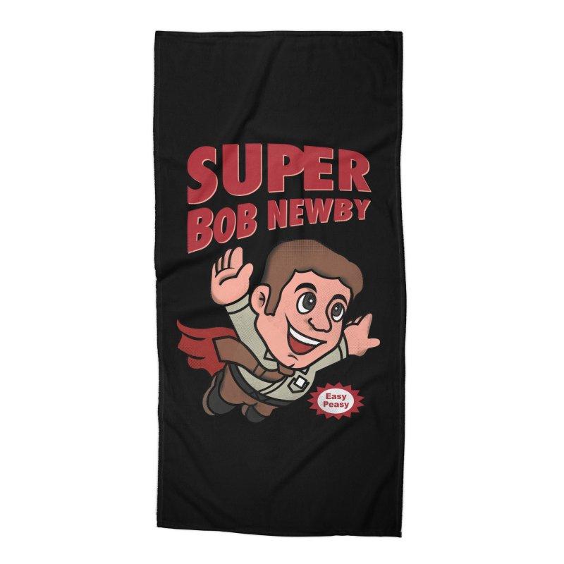 Super Bob Accessories Beach Towel by dandingeroz's Artist Shop
