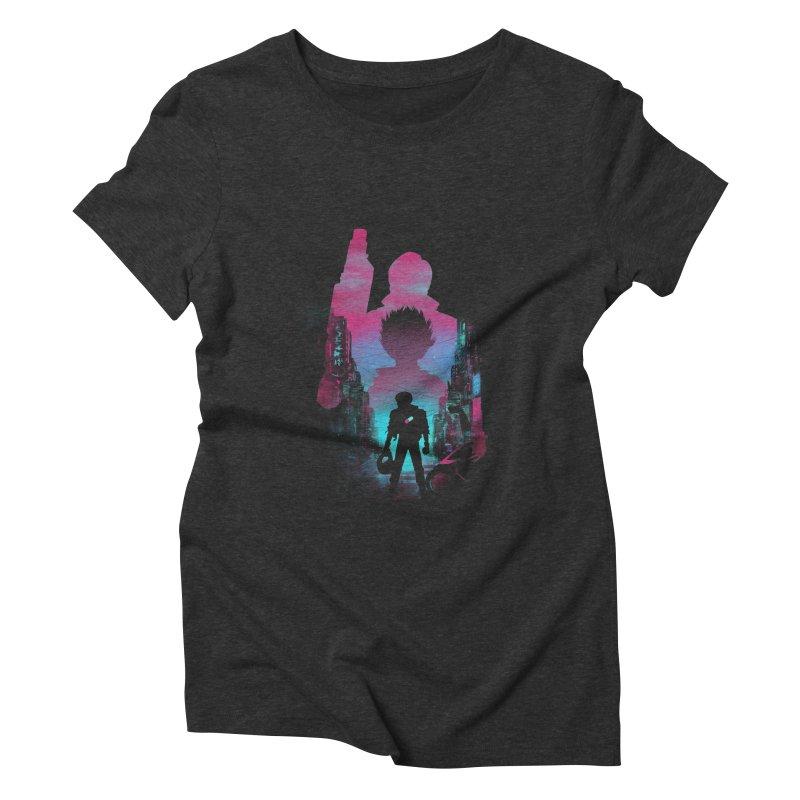 Neo Tokyo Women's Triblend T-Shirt by dandingeroz's Artist Shop