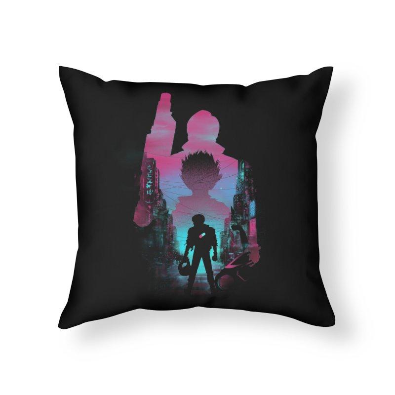 Neo Tokyo Home Throw Pillow by dandingeroz's Artist Shop