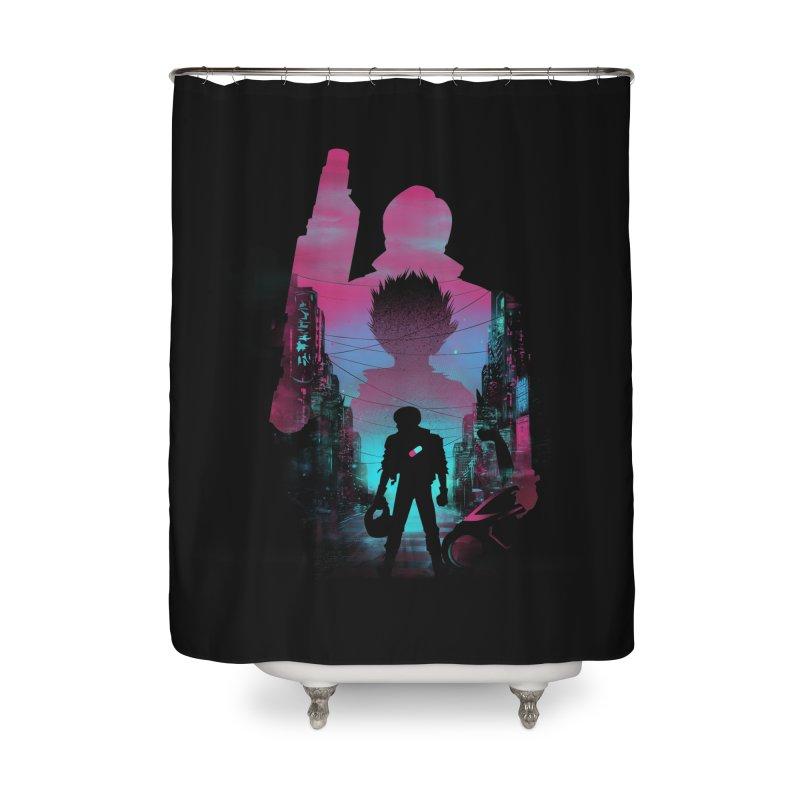 Neo Tokyo Home Shower Curtain by dandingeroz's Artist Shop
