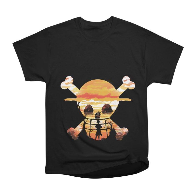 Straw Hat Crew Men's Heavyweight T-Shirt by dandingeroz's Artist Shop