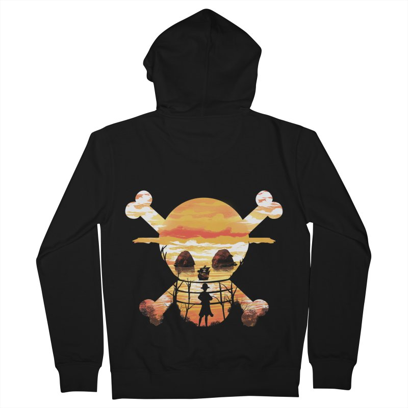 Straw Hat Crew Men's Zip-Up Hoody by dandingeroz's Artist Shop