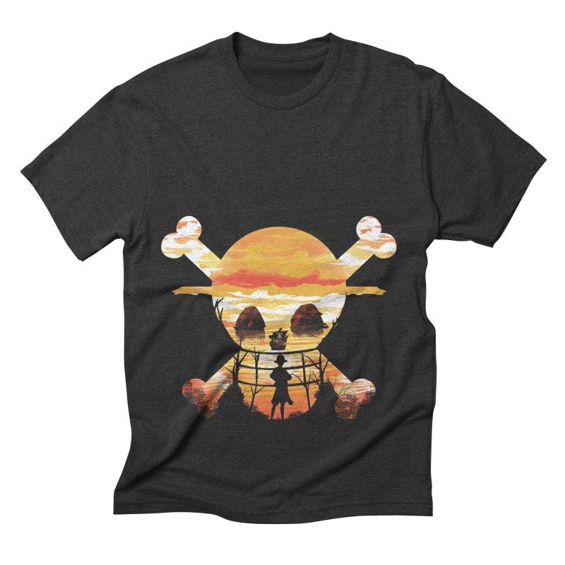 Straw Hat Crew Men's Triblend T-Shirt by dandingeroz's Artist Shop