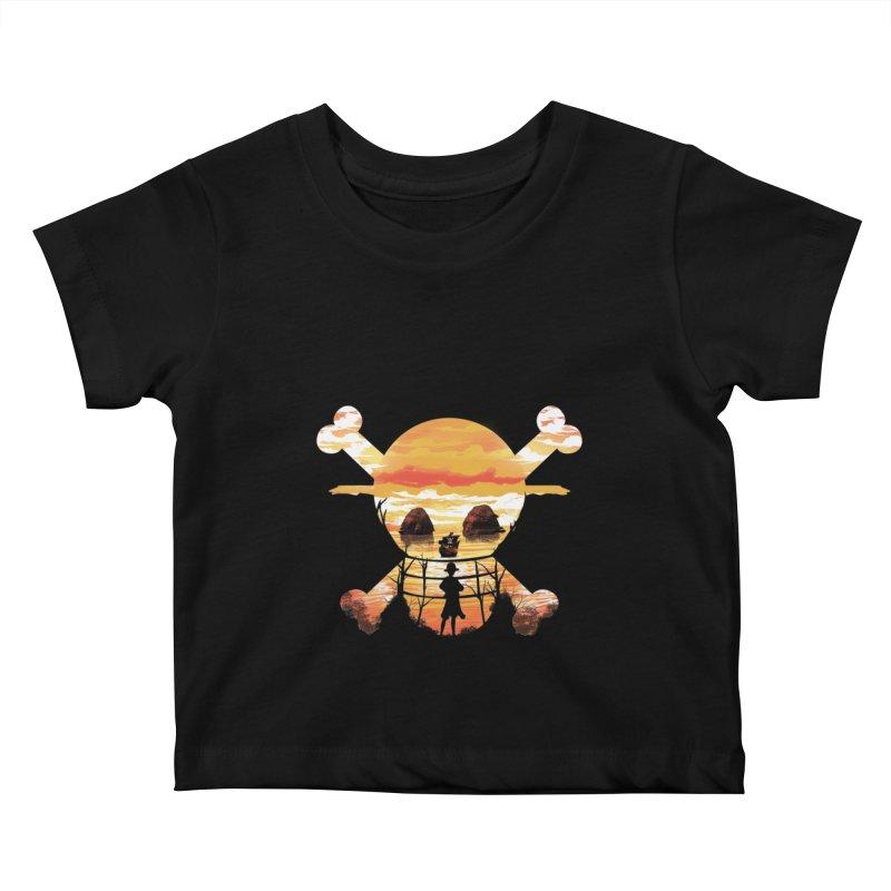Straw Hat Crew Kids Baby T-Shirt by dandingeroz's Artist Shop