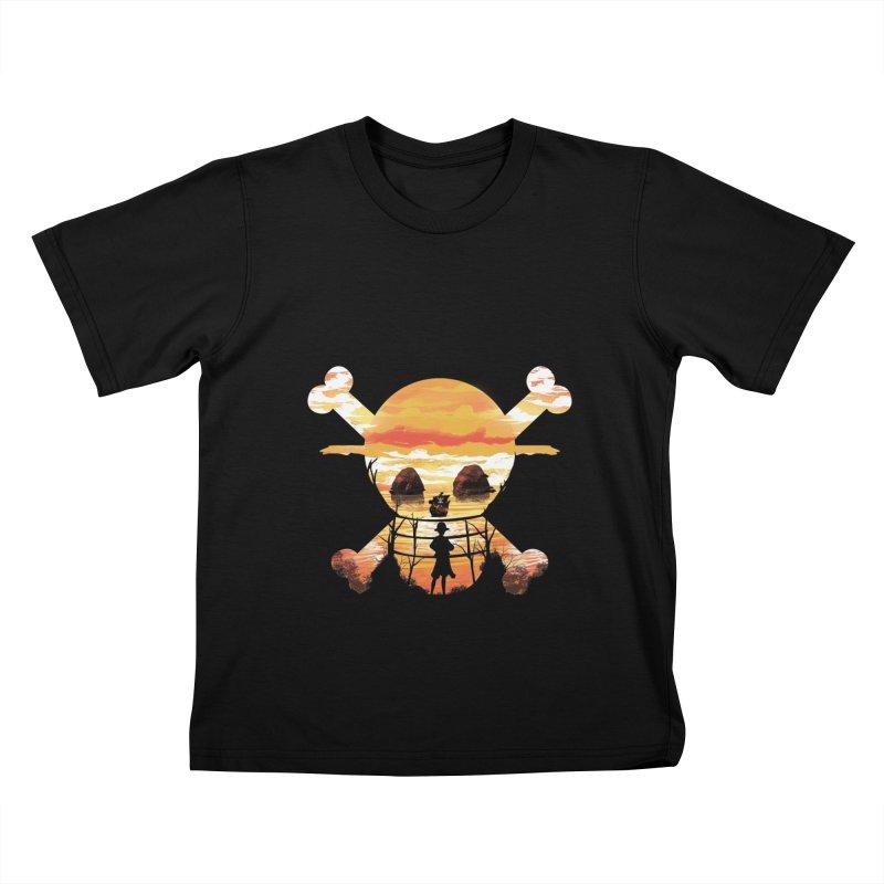Straw Hat Crew Kids T-Shirt by dandingeroz's Artist Shop