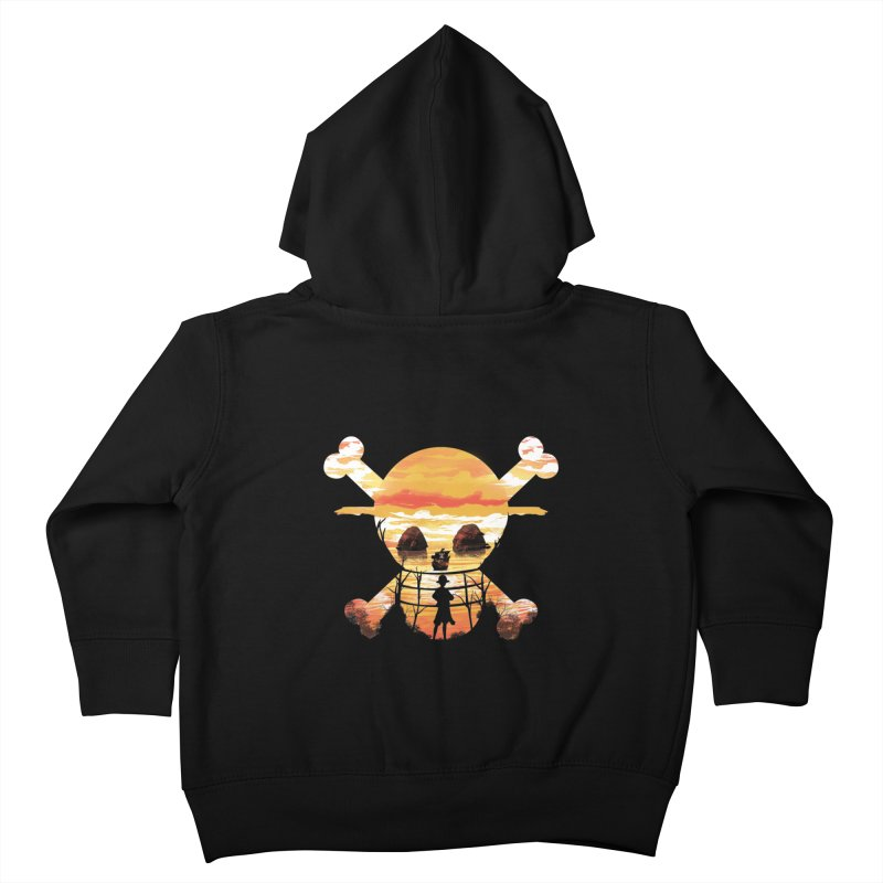Straw Hat Crew Kids Toddler Zip-Up Hoody by dandingeroz's Artist Shop
