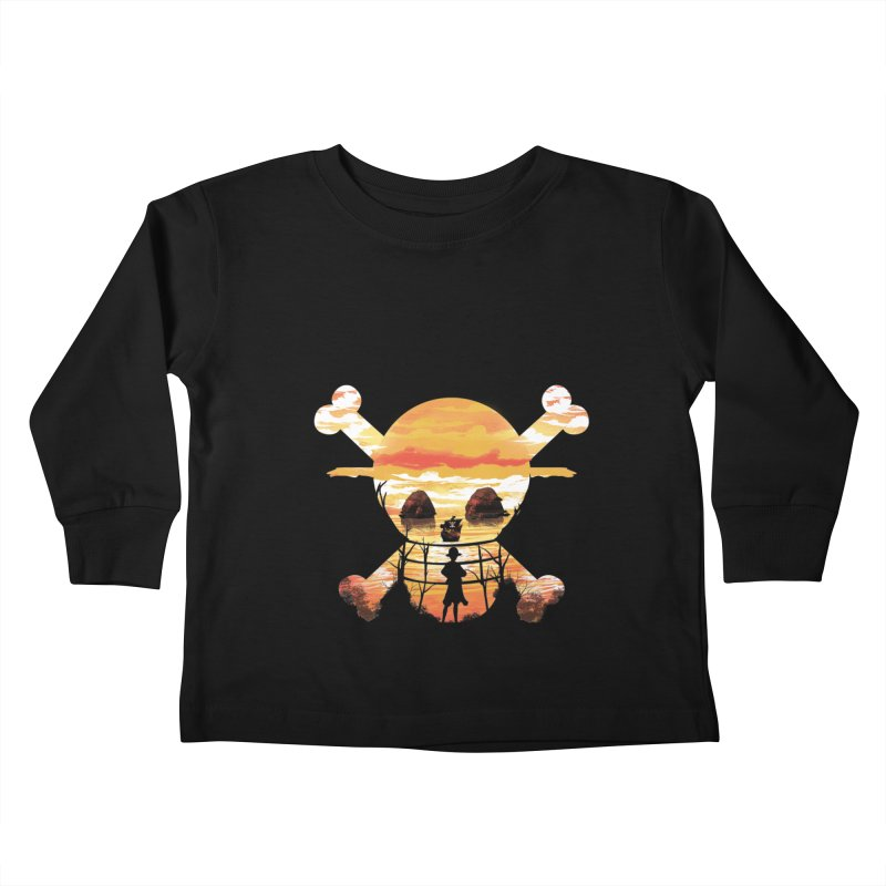 Straw Hat Crew Kids Toddler Longsleeve T-Shirt by dandingeroz's Artist Shop