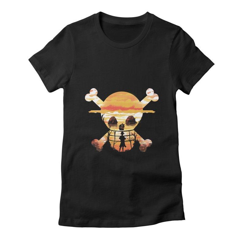 Straw Hat Crew Women's Fitted T-Shirt by dandingeroz's Artist Shop