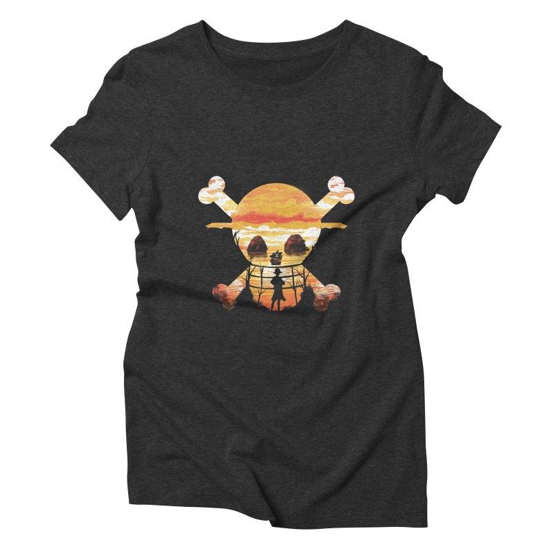 Straw Hat Crew Women's Triblend T-Shirt by dandingeroz's Artist Shop