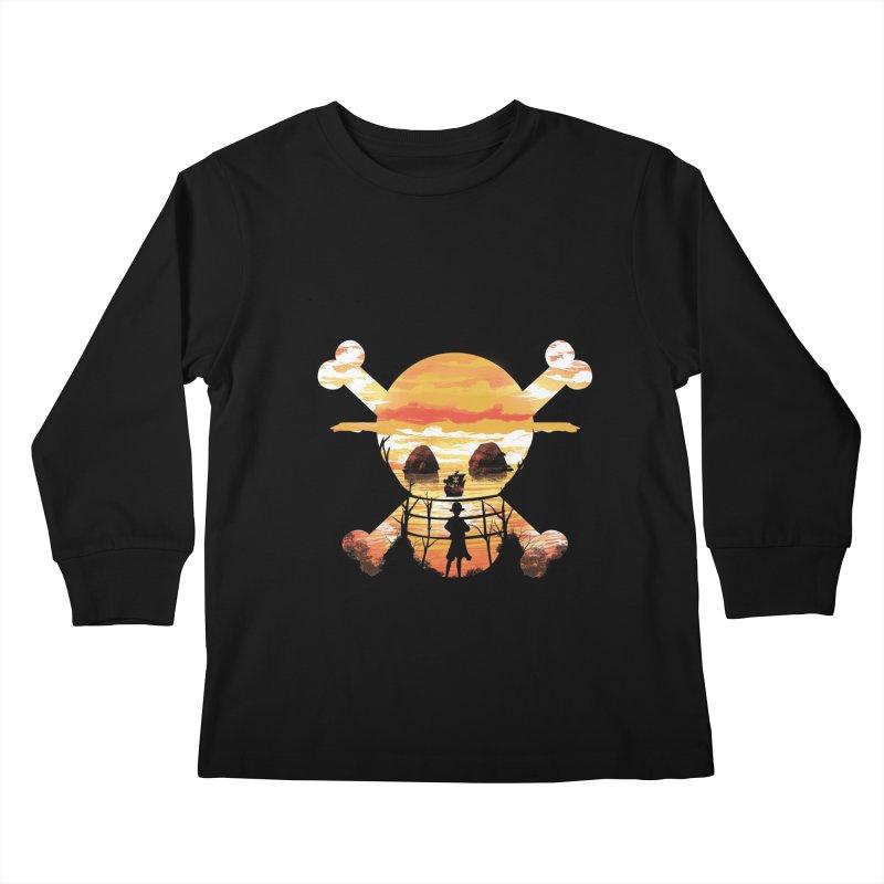 Straw Hat Crew Kids Longsleeve T-Shirt by dandingeroz's Artist Shop