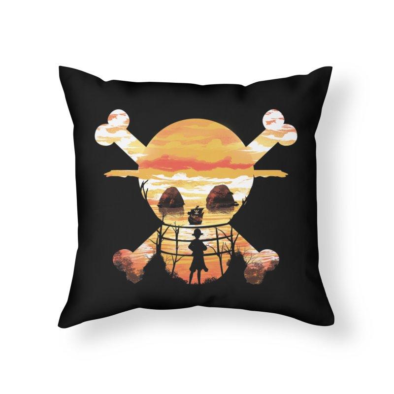 Straw Hat Crew Home Throw Pillow by dandingeroz's Artist Shop