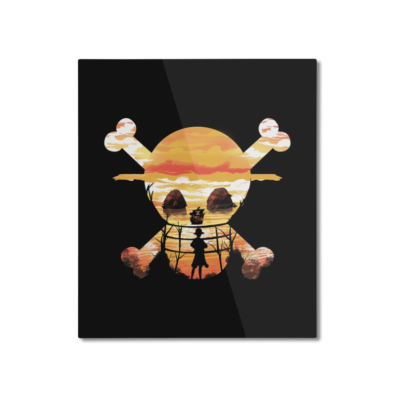 Straw Hat Crew Home Mounted Aluminum Print by dandingeroz's Artist Shop