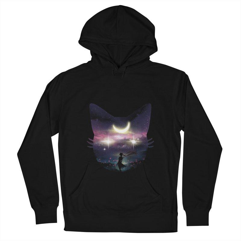 Moon Chaser Men's Pullover Hoody by dandingeroz's Artist Shop