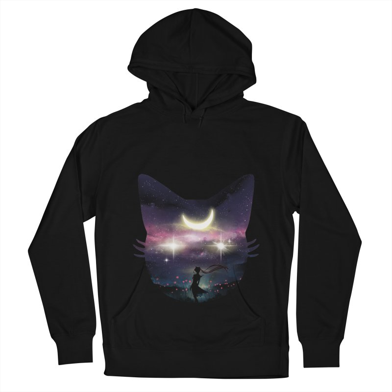 Moon Chaser Men's French Terry Pullover Hoody by dandingeroz's Artist Shop