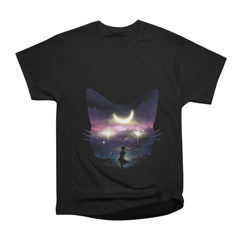 Moon Chaser Men's Heavyweight T-Shirt by dandingeroz's Artist Shop