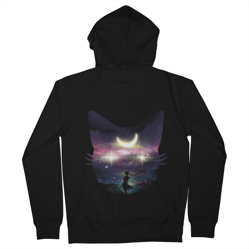 Moon Chaser Men's Zip-Up Hoody by dandingeroz's Artist Shop