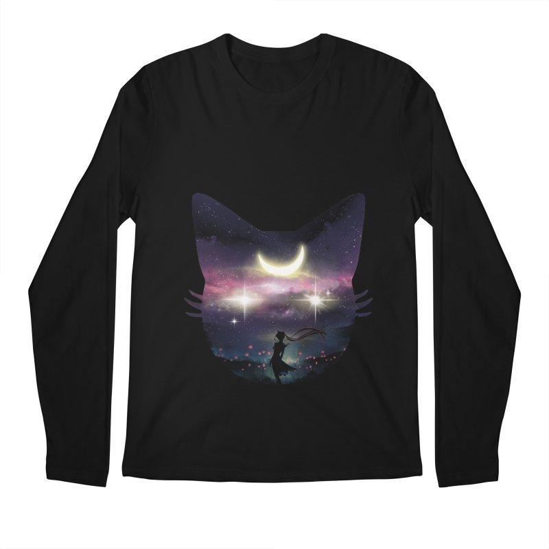 Moon Chaser Men's Longsleeve T-Shirt by dandingeroz's Artist Shop