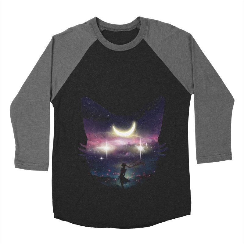 Moon Chaser Men's Baseball Triblend Longsleeve T-Shirt by dandingeroz's Artist Shop