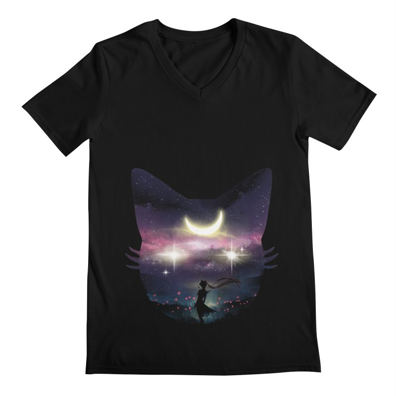 Moon Chaser Men's V-Neck by dandingeroz's Artist Shop