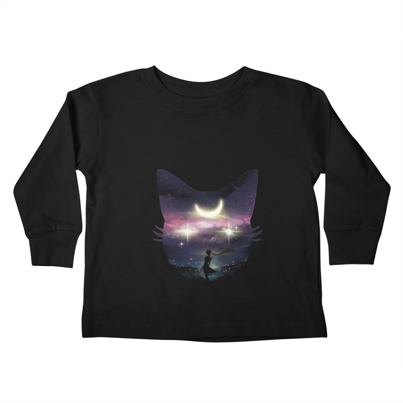 Moon Chaser Kids Toddler Longsleeve T-Shirt by dandingeroz's Artist Shop